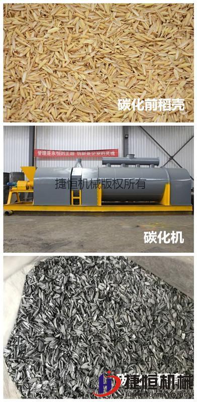 稻壳碳化的过程